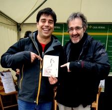 Con Sergio en la feria del Libro Pamplona-Iruña 2013